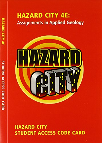 Student Access Code Card for Premium Website for Hazard City (4th Edition)