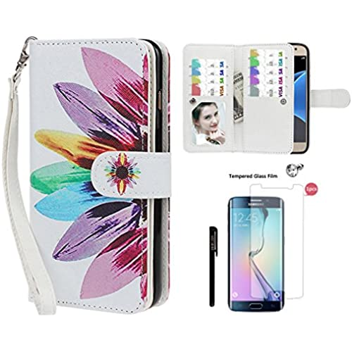 Samsung S7 Edge Case, xhorizon TM FL8 Premium Leather Folio Case Wallet Magnetic Detachable Wristlet Purse Flip Sales