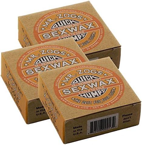 Sex Wax QUICK HUMPS 4X SURF WAX Pack of 2 Mr Zogs