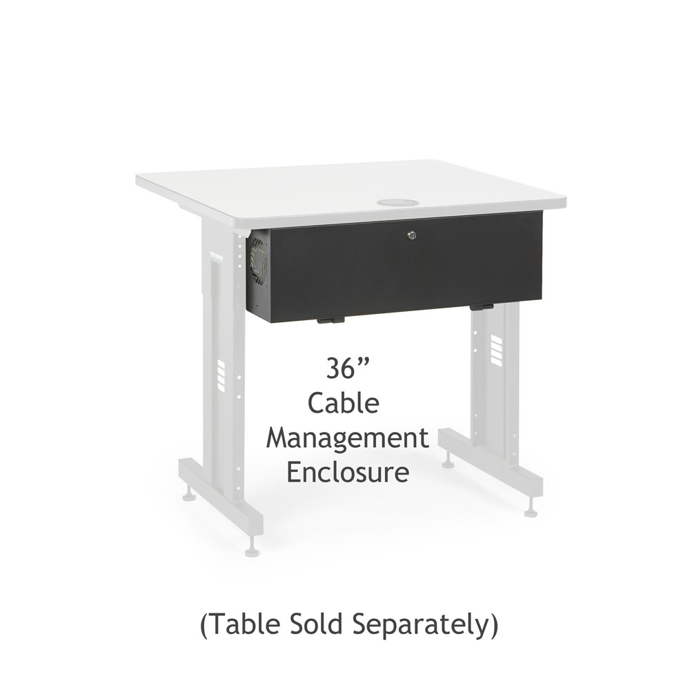 36'' Training Table Cable Management Enclosure by Connect-Tek