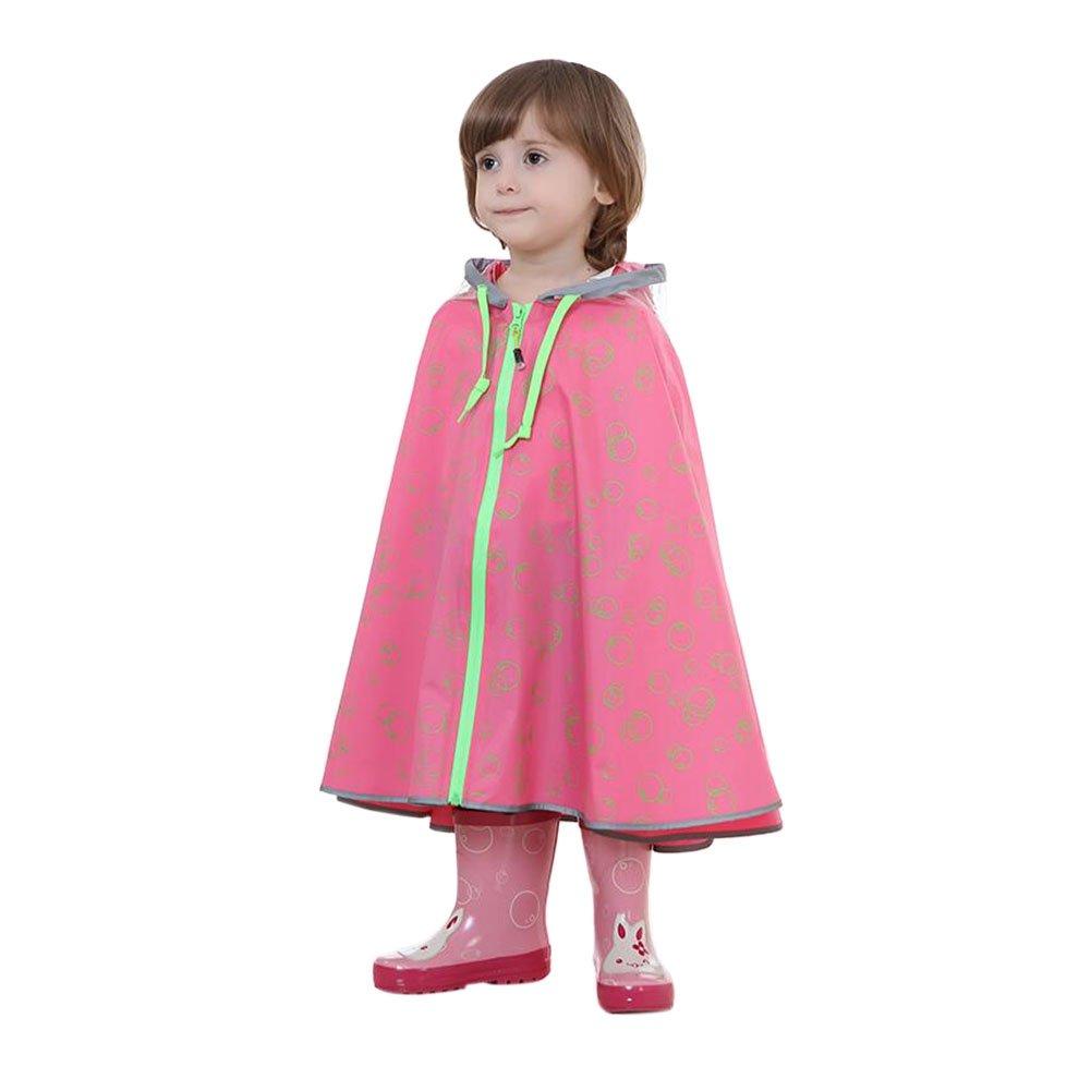 Meijunter Children Poncho Cloak Raincoat Hooded Waterproof Lightweight Rain Wear