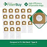 18 - Dirt Devil Type G Vacuum Bags, Part # 3010348001. Designed by FilterBuy to Replace Dirt Devil Type G Vacuum Bags.