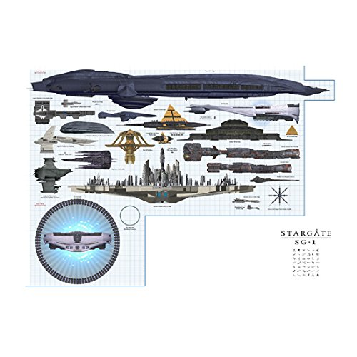 stargate-sg-1-11-inch-x-17-inch-lithograph-lighted-stargate-framing-space-ships-kn