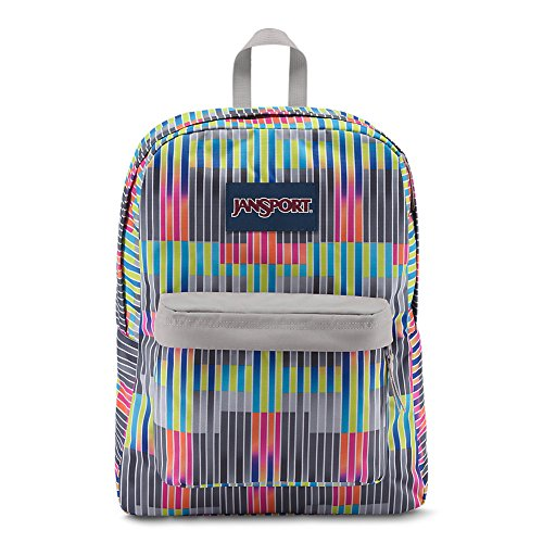 JanSport Superbreak Backpack - Static Stripes - Classic, Ultralight