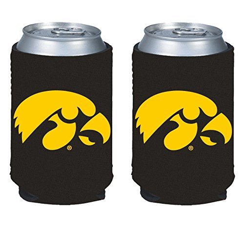 Iowa Hawkeyes Tailgate Cooler (NCAA College 2014 Team Logo Color Can Kaddy Holder Cooler 2-Pack (Iowa Hawkeyes))