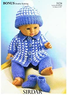 King Cole Dolls Clothes Knitting Pattern 4000 King Cole Amazon Co