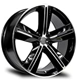 SMS, 17X7.5, 5X114.3, +40, 73.1, BLACK MACHINED SET OF 4 081084