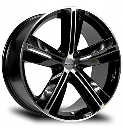 SMS, 17X7.5, 5X114.3, +40, 73.1, BLACK MACHINED SET OF 4 081084 by RTX (Image #3)