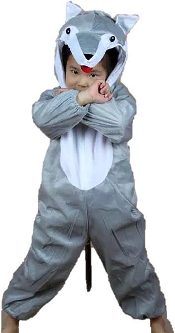 Matissa Disfraz infantil para niños y niñas, diseño de lobo, talla ...