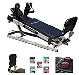 Pilates Power Gym 'Cardio' 3-Elevation Pilates Mini Reformer Including: The Power Flex Cardio Rebounder and 5 Celebrity Trainer Pilates Workout DVDs - ONLY Available ON Amazon