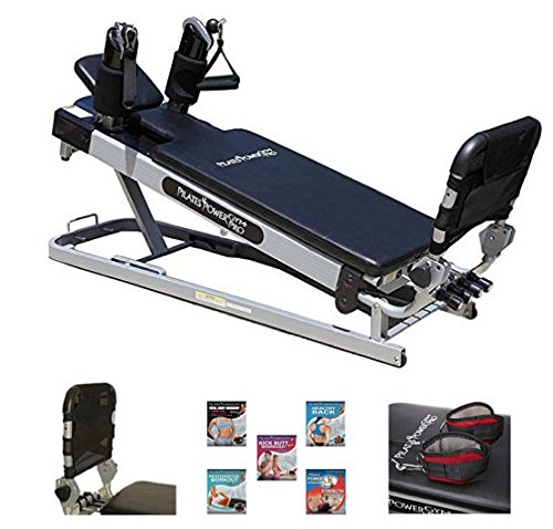 Pilates Power Gym 'Cardio' 3-Elevation Pilates Mini Reformer Including: The Power Flex Cardio Rebounder and 5 Celebrity Trainer Pilates Workout DVDs - ONLY Available ON Amazon -  KASWIT,INC, PPGPRCH-OS