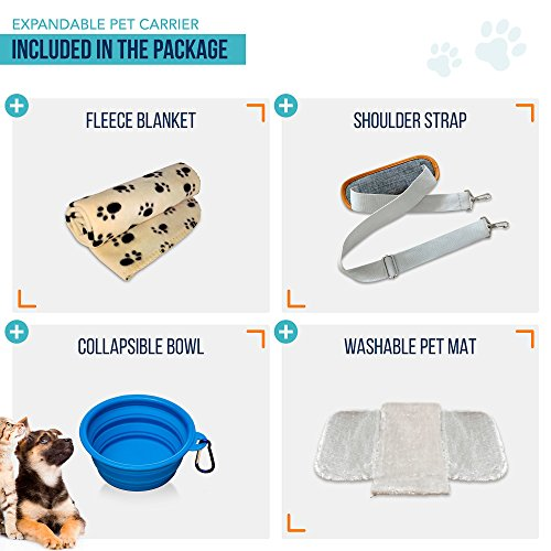 PETYELLA Luxury Pet Carrier + Fleece Blanket & Bowl - Airline Approved Innovative Design - Lightweight Dog & Cat Carrier by PETYELLA (Image #1)