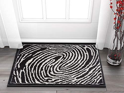 Whorl Black & White Modern Swirl Microfiber 2x3 (20
