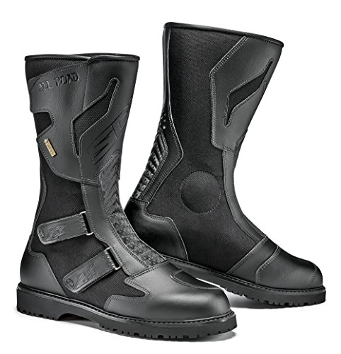 Road Gore Tex Motorcycle - Sidi All Road Gore Tex Motorcycle Boots Black US10/EU44 (More Size Options)