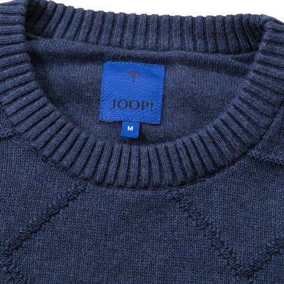 JOOP! Herren Pullover Baumwolle Sweater Meliert, Größe: M, Farbe: Blau