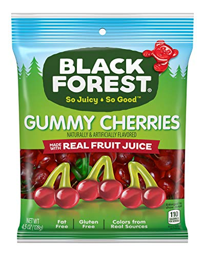 Black Forest Gummy Cherries Candy, 4.5-Ounce Bag (Pack of 12)