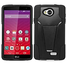 LG Tribute LS660 / Optimus F60 Case, Premium Durable Hard & Soft Rugged Shell Hybrid Protective Phone Case Cover with Built in Kickstand For LG Tribute LS660 / Optimus F60【Storm Buy】 (black)