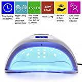 MAKARTT 48W UV LED Nail Lamp with 3 Timer Setting LED Gel Polish Nail Dryer Fast Curing for Both Hands and Feet Nail Art Light