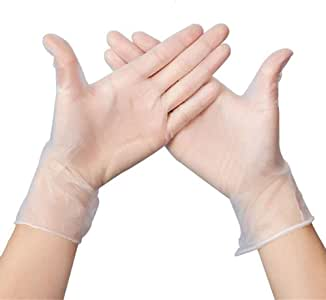 Mittens Transparent Glover,Mitten Clear PVC Mitts for Cooking Cleaning (Clear, Small)