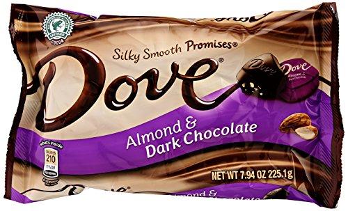 Dove Chocolate Miniatures - Dark Chocolate Almond - 7.94 oz