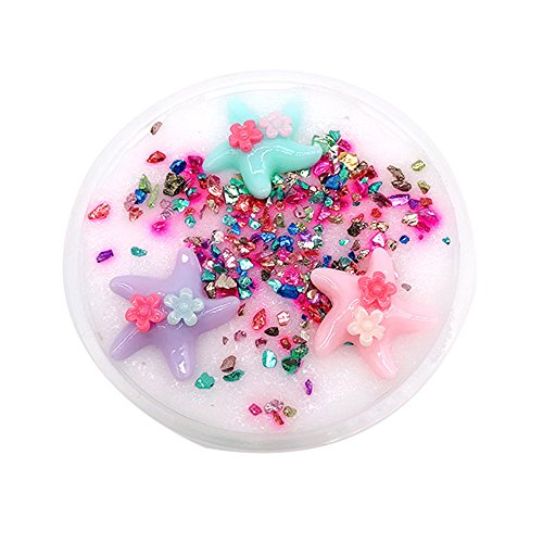 Kanzd Beautiful Color Beach Slime Putty Scented Stress Kids Clay Toy (White)