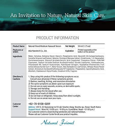 Natural Friend Nanocell moisturizing facial serum with