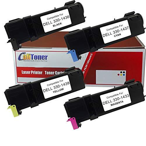 Calitoner Remanufactured Laser Toner Cartridge Replacement for Dell 2130cn, 2135cn Printer- (4 Pack)