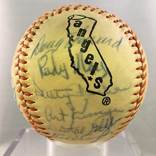 - 1972 California Angels Team Signed Baseball Nolan Ryan - Autographed Baseballs