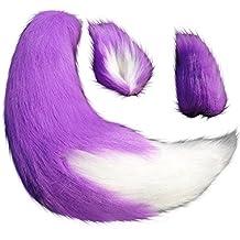 "Anime Spice and Wolf Holo Kamisama Kiss Fox/Cat 25"" Plush Tail + 2 Clip Ears Prop Halloween Cosplay"