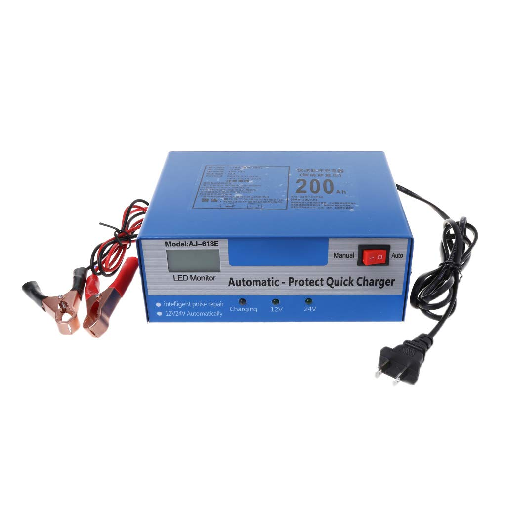 Autone 12V/24V Automatic Quick Battery Charger Intelligent Pulse Repair Truck Storage