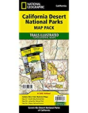 National Geographic Trails Illustrated California Desert National Parks Map Pack: Mojave National Preserves 256 - Joshua Tree National Park 226 - Death Valley National Park 221