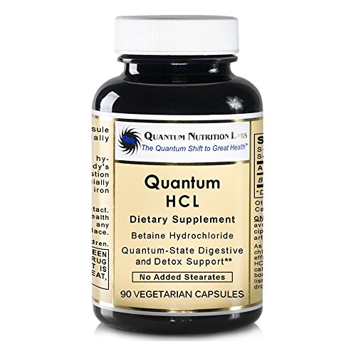 Betaine Hydrochloride Acid - Product Name: Quantum HCL Pack of 2, 180 VCaps (Betaine Hydrochloride Acid) Quantum-State Premier HCL Digestive and Detoxification Support