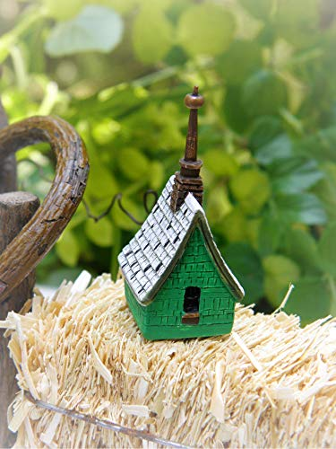 Dollhouse Accessories Irish Cottage Birdhouse New - Miniature Magic Scene Supplies for Your Fairy Garden - Outdoor and House Decor
