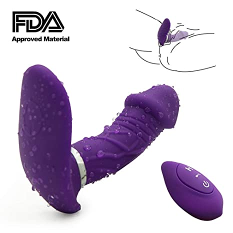 622bf529932 Image Unavailable. Image not available for. Color  Vibrators 10 Speeds  Wireless Wearable G-spot Vibrator Remote Control Butterfly Vagina Clitoris  ...
