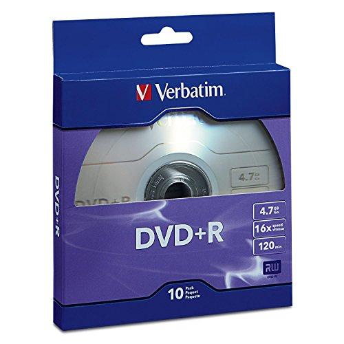 Verbatim DVD+R 4.7GB 16x Recordable Media Disc - 10 Disc Box ()