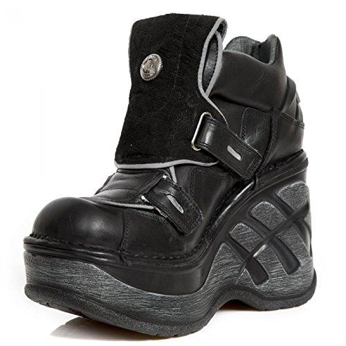 New Rock Boots M.sp0016-c2 Gotico Hardrock Punk Damen Stiefelette Schwarz