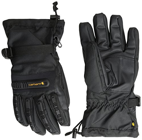 Carhartt Men's Impact Gauntlet Glove, Black, (Carhartt Leather Waterproof Glove)