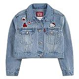 Levi's Girl's Denim Trucker Jacket, Hello Kitty, 4T
