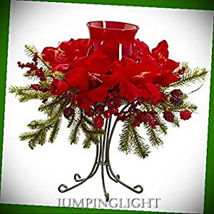 JumpingLight 4927 Amaryllis Candelabrum Artificial Flowers Wedding Party Centerpieces Arrangements Bouquets Supplies 39