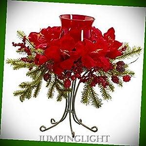 JumpingLight 4927 Amaryllis Candelabrum Artificial Flowers Wedding Party Centerpieces Arrangements Bouquets Supplies 12