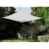 Frilivin Toldo rectangular de protección solar jardín Protección UV Premium toldos sombra Paño blanco