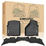 quads accessories - oEdRo Ram Floor mats Liners 1500 Quad Cab - Unique Black TPE All-Weather Guard, Includes 1st & 2nd Front Row and Rear for 2013-2018 Dodge Floor Liner Set