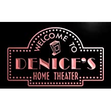 phg998-r Denice's Home Theater Popcorn Bar Beer Neon Light Sign
