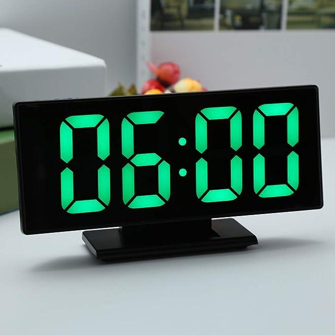 ... Digital Alarm Clock LED Mirror Clock Multifunction Snooze Display Time Night LCD Light Table Desktop Reloj Despertador USB Cable: Home Audio & Theater