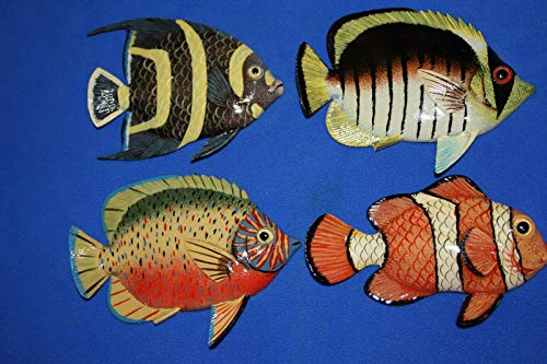 Salty Pelican Seafood Restaurant Wall Decor 3-D Coral Reef Tropical Fish Wall Hangings Bundle of - Replica Pelican