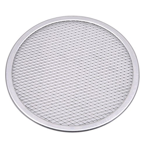 - UNKE Aluminum Mesh Pizza Pan Screen Round Baking Tray Net Kitchen Tools Pizza Accessories,9 inch
