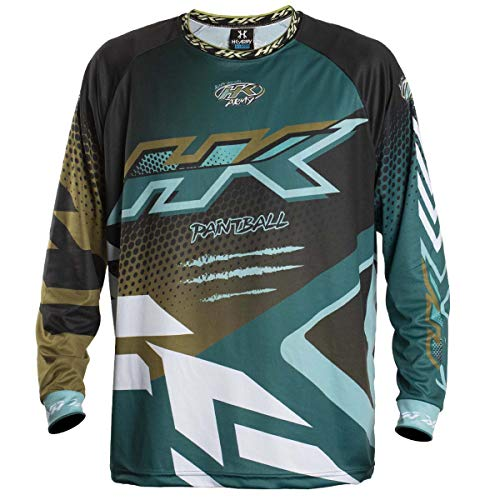 HK Army Retro Paintball Jersey - Edge - Aqua/Gold - Large