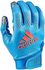 adidas Adizero 11 Turbo Football Receiver Glove, Blue/Orange, Medium