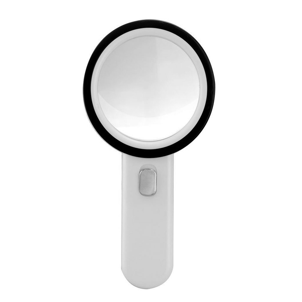 20x Handheld Magnifier Large 106mm/ 4.2'' Distortion Free Illuminated Magnifying Glass Lens Durable ABS Frame Magnifying Loupe with 12 Leds for Reading Crafts Jewelry Hobbies Daily Low Visual Aids