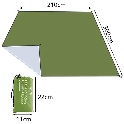 ... Impermeable Portátil Impermeable Ultraligero Alfombra Colchón para ara Acampar Senderismo Picnic Beach (210cmx300cm, Ejercito Verde): Amazon.es: Jardín